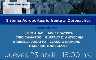 """✈Participación en el primer Webinar de UPE: """"Sistema Aeroportuario frente al Coronavirus""""."""